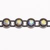 Preciosa Rhinestone Banding 1Row SS10 Black Casing/crystal Aurora Borealis